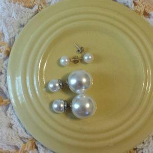 Pearl Earrings  (2 Pairs)